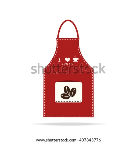 Apron icon, kitchen cooking sign vector illustration - stock vector