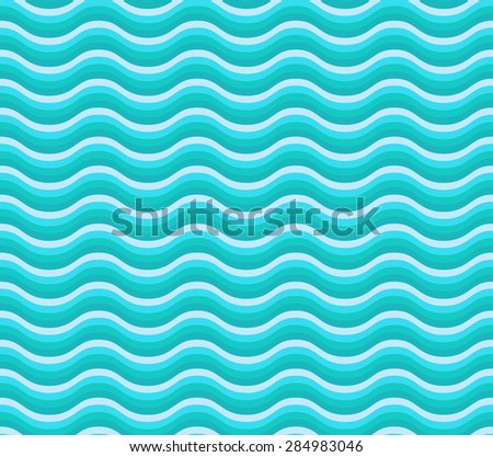 Aqua curve wave pattern vector.