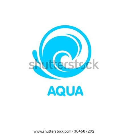 Aqua Logo design - stock vector