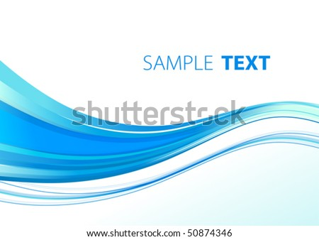 Aqua wavy template. Vector - stock vector