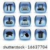 Aqua Web Icons-II - stock photo