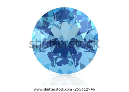 aquamarine on white background .Vector illustration. - stock vector
