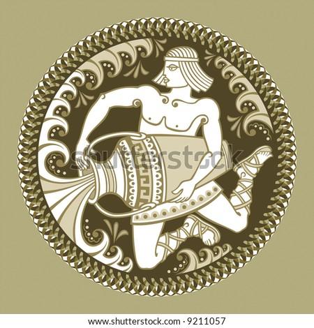 Aquarius, horoscope - stock vector
