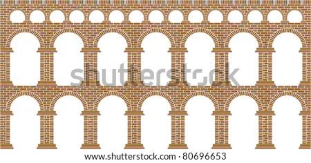 aqueduct - stock vector