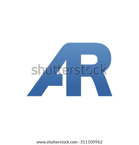 AR letter logo connected - stock vector