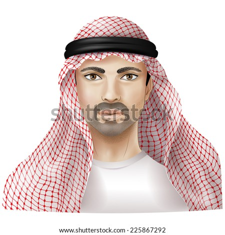 Arab dressed in national clothes. - stock vector