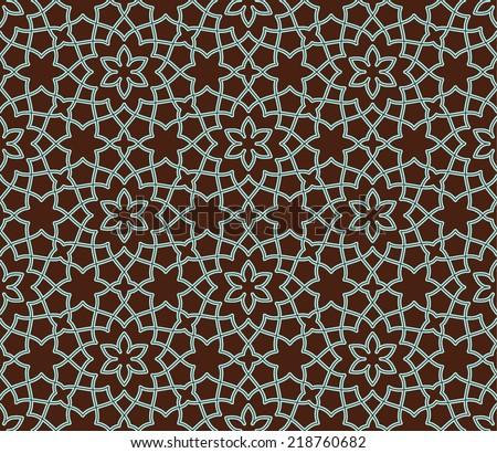 Arabesque. Ornamental seamless pattern. Vector abstract background