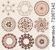 arabesque pattern set - stock vector