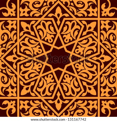 Arabic and islamic seamless ornament for background design. Jpeg (bitmap) version also available in gallery
