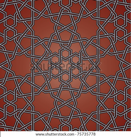 Arabic background with flowers and triangles