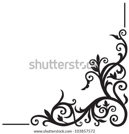 Arabic floral pattern. Element for design corner. - stock vector