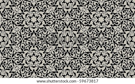Arabic floral seamless pattern - background for continuous replicate. - stock vector