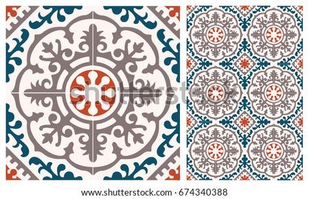 Fine 16X32 Ceiling Tiles Thin 18 Inch Floor Tile Flat 18 X 18 Ceramic Tile 20 X 20 Floor Tile Patterns Old 24 X 24 Ceiling Tiles Bright3 X 12 Subway Tile Arabic Patter Style Tiles Wall Floor Stock Vector 674340388 ..
