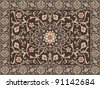Arabic style carpet design - stock vector