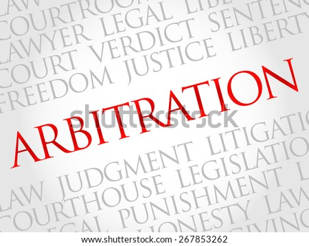 Arbitration word cloud concept - stock vector