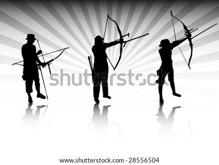 Archers in action