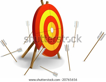 archery and bad shutting - stock vector