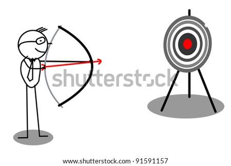 Archery Target Business - stock vector