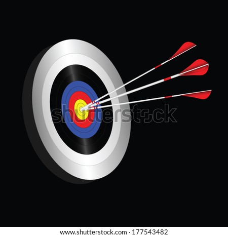Archery targets vector