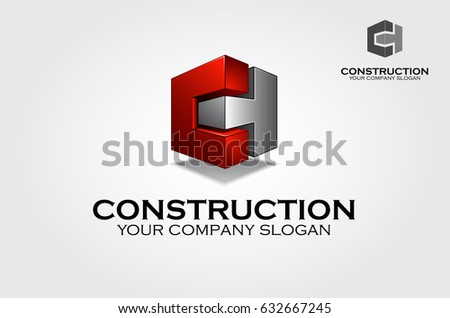 architect construction idea building construction vector logo design template