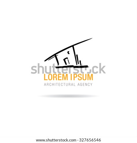 Architectural Agency Vector Logo Concept Design