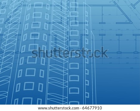 Architectural background. Building Construction - stock vector