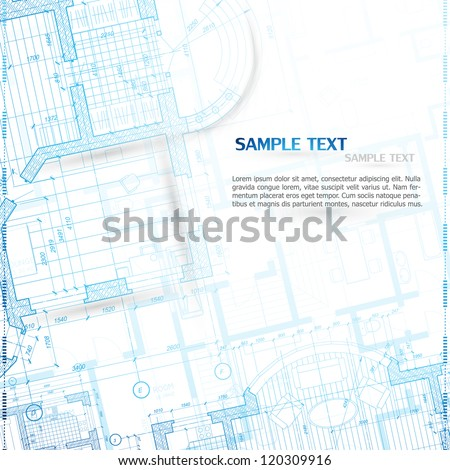 Architectural background. Vector. - stock vector