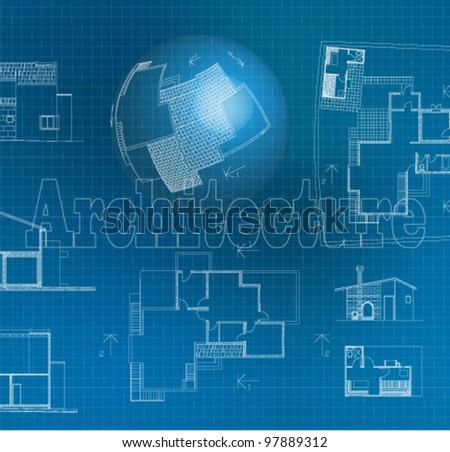 Architectural background. Vector Clip-art - stock vector