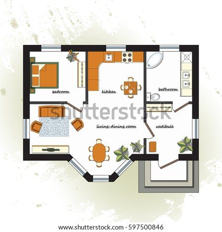 Architectural background part architectural project for Apartment stock plans