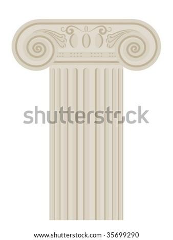 Architectural column - stock vector