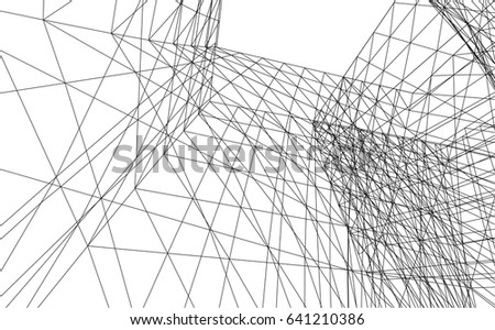 Architectural Drawing Background architectural drawing futuristic background stock vector 641238265