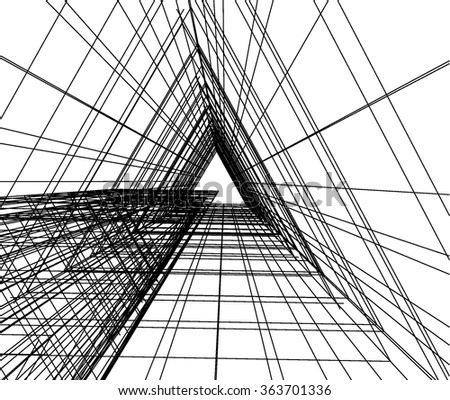 Abstract architecture stock vector 133939814 shutterstock for Cheap architectural drawings
