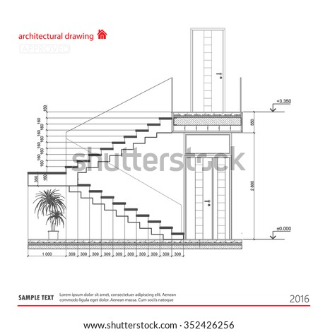 Stairs interior stock images royalty free images for Architectural stairs