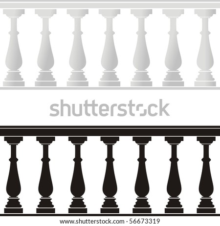 Architectural element - a balustrade - stock vector