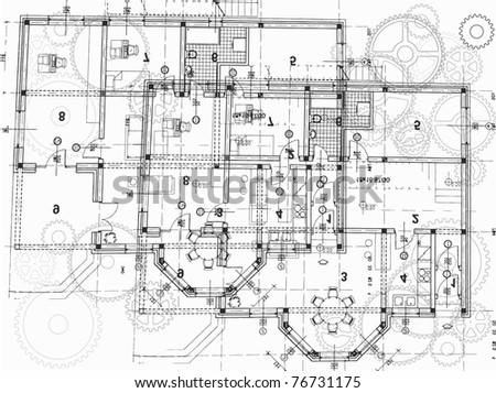 architectural plan - stock vector