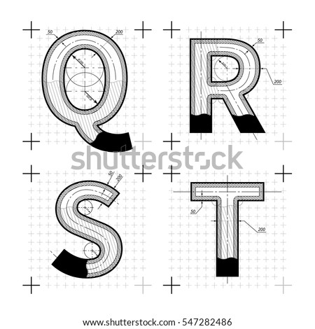 Architectural Drawing Font drafting stock images, royalty-free images & vectors | shutterstock
