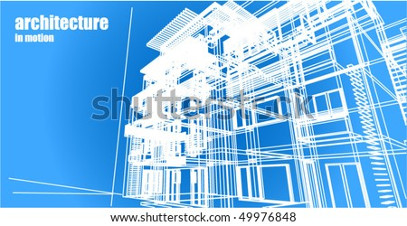 Architecture abstract background - stock vector