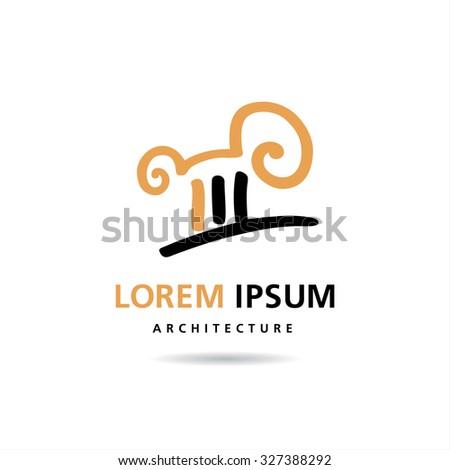 Architecture and Building. Vector logo concept design - stock vector