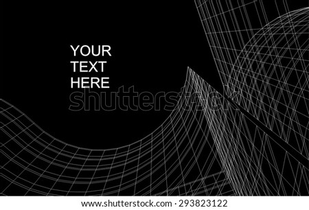 architecture building background - stock vector