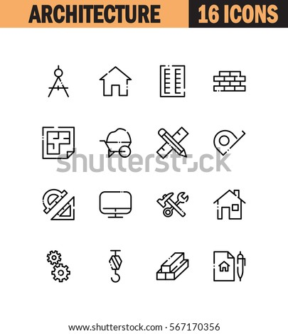 Architecture Icon Stock Images Royalty Free Images