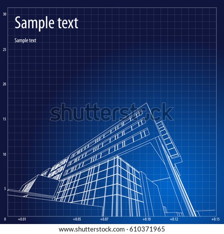 Architecture grid blueprint background sample vector de architecture grid blueprint background sample malvernweather Images