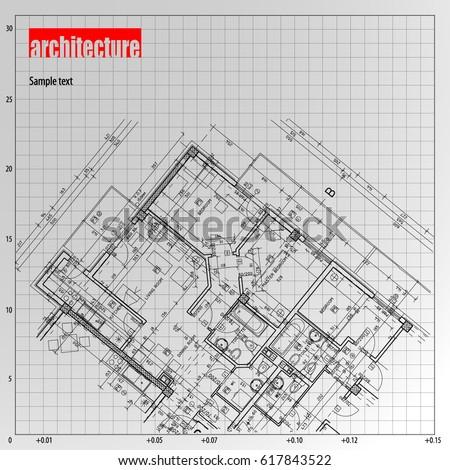 Architecture grid blueprint background sample stock vector 2018 architecture grid blueprint background sample malvernweather Images