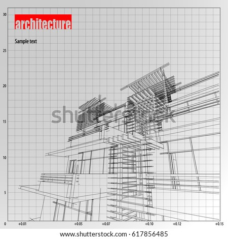Architecture grid blueprint background sample stock vector architecture grid blueprint background sample malvernweather Choice Image