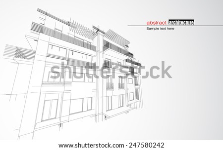 Architecture house - stock vector