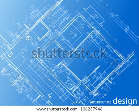 architecture layout - stock vector