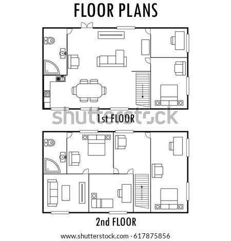 House Plans Stock Royalty Free & Vectors