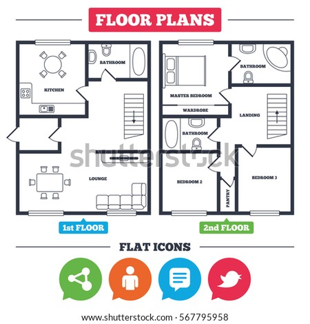 Architecture plan furniture house floor plan stock photo photo architecture plan with furniture house floor plan human person and share icons speech ccuart Images