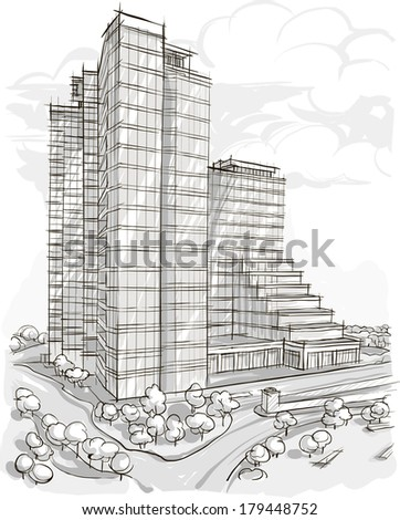 Building Sketch Stock Images Royalty Free Images Vectors