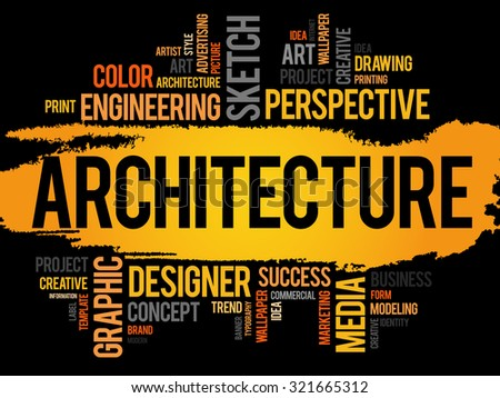 Architecture word cloud concept - stock vector