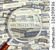 ARCHITECTURE. Word collage. Vector illustration. - stock vector